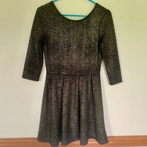 One Clothing Fit and Flare Gold Dress